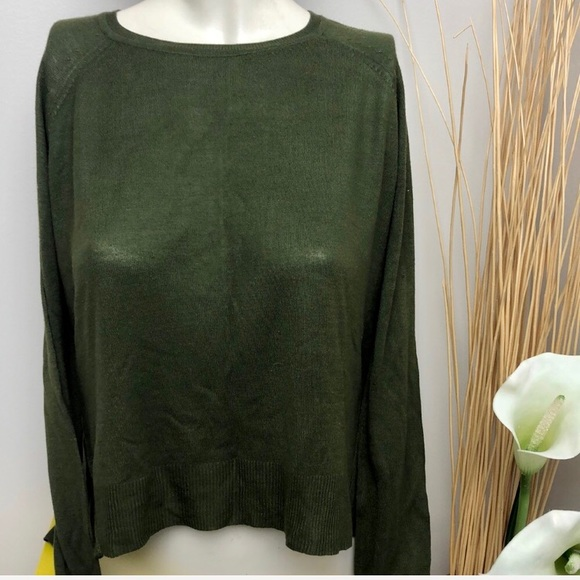 Zara Green Lightweight Pullover Sweater Size S